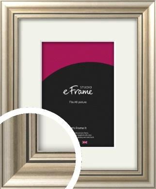 Classic Silver Picture Frame & Mount, A6 (105x148mm) (VRMP-211-M-A6)