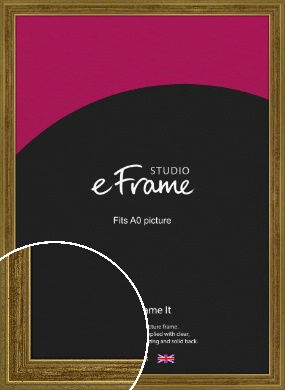 Contrasting Tonal Gold Picture Frame, A0 (841x1189mm) (VRMP-1325-A0)