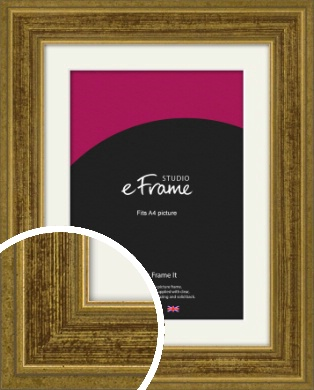 Contrasting Tonal Gold Picture Frame & Mount, A4 (210x297mm) (VRMP-1325-M-A4)