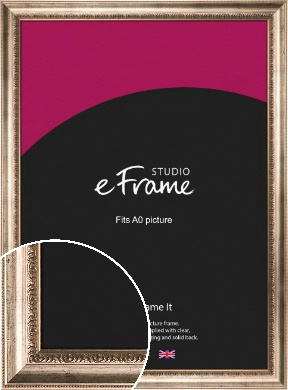 Baroque Silver Picture Frame, A0 (841x1189mm) (VRMP-613-A0)