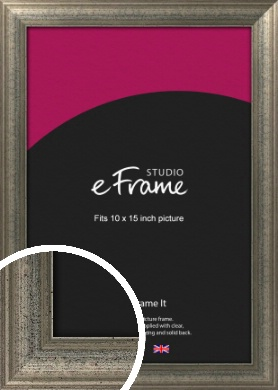 Artistically Distressed Silver Picture Frame, 10x15