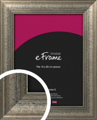 Artistically Distressed Silver Picture Frame, 15x20cm (6x8