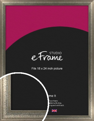 Artistically Distressed Silver Picture Frame, 18x24