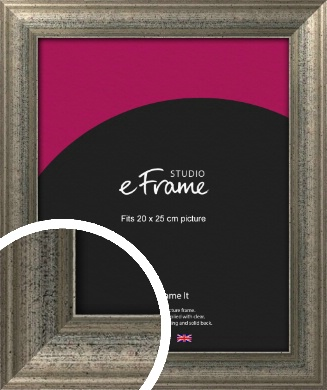 Artistically Distressed Silver Picture Frame, 20x25cm (8x10