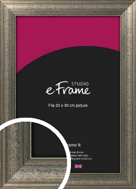 Artistically Distressed Silver Picture Frame, 20x30cm (8x12