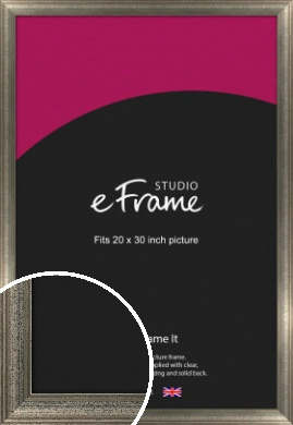 Artistically Distressed Silver Picture Frame, 20x30