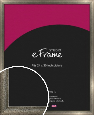 Artistically Distressed Silver Picture Frame, 24x30
