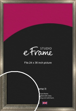 Artistically Distressed Silver Picture Frame, 24x36