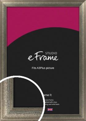 Artistically Distressed Silver Picture Frame, A3Plus (VRMP-186-329x483mm)
