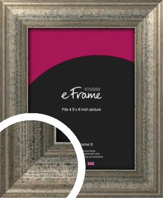 Artistically Distressed Silver Picture Frame, 4.5x6