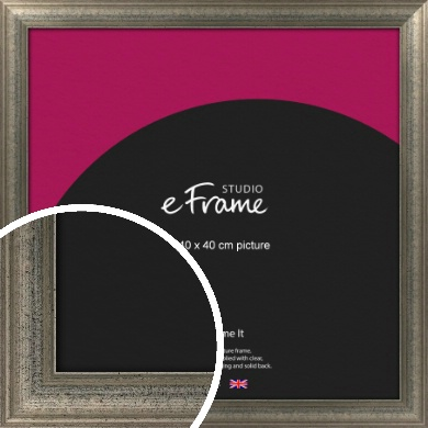 Artistically Distressed Silver Picture Frame, 40x40cm (VRMP-186-40x40cm)