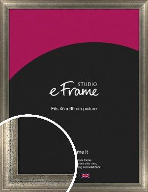 Artistically Distressed Silver Picture Frame, 45x60cm (VRMP-186-45x60cm)
