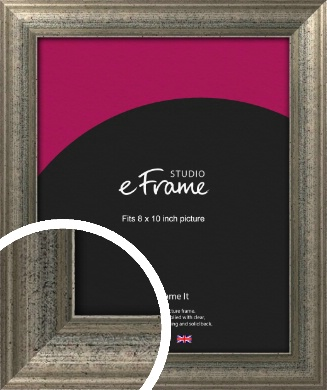 Artistically Distressed Silver Picture Frame, 8x10