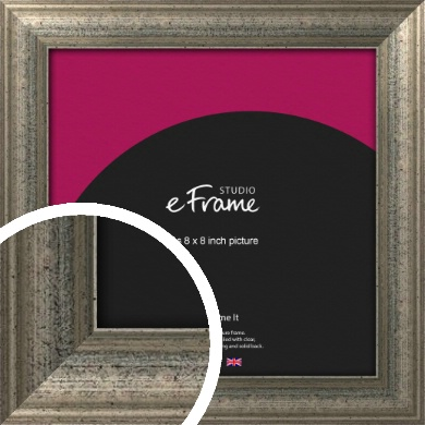 Artistically Distressed Silver Picture Frame, 8x8
