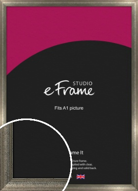 Artistically Distressed Silver Picture Frame, A1 (594x841mm) (VRMP-186-A1)