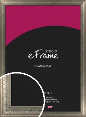 Artistically Distressed Silver Picture Frame, A2 (420x594mm) (VRMP-186-A2)