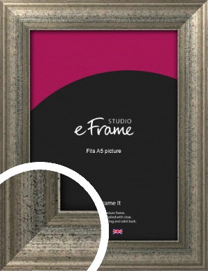 Artistically Distressed Silver Picture Frame, A5 (148x210mm) (VRMP-186-A5)