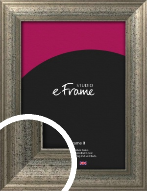 Artistically Distressed Silver Picture Frame (VRMP-186)