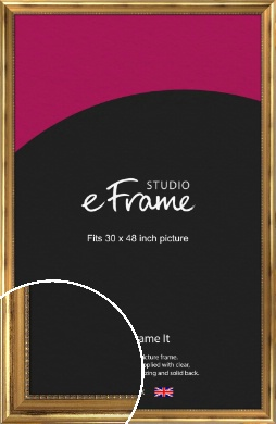 Charming Gold Picture Frame, 30x48