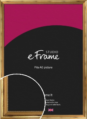Charming Gold Picture Frame, A0 (841x1189mm) (VRMP-626-A0)