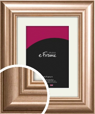 Restrained Scoop Bronze / Copper Picture Frame & Mount (VRMP-668-M)