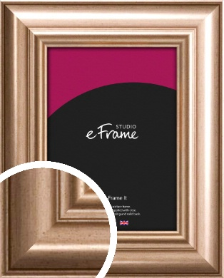Restrained Scoop Bronze / Copper Picture Frame (VRMP-668)