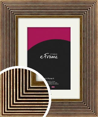 Stacked Deco Gold Picture Frame & Mount (VRMP-561-M)