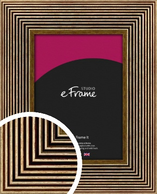 Stacked Deco Gold Picture Frame (VRMP-561)