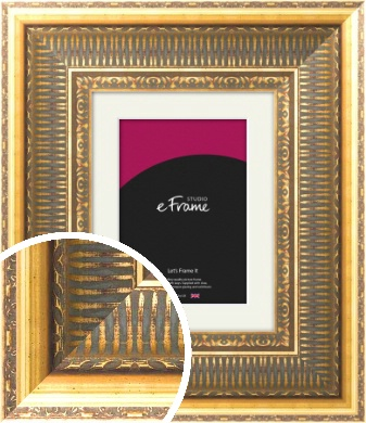 Highly Detailed Gold Picture Frame & Mount (VRMP-508-M)
