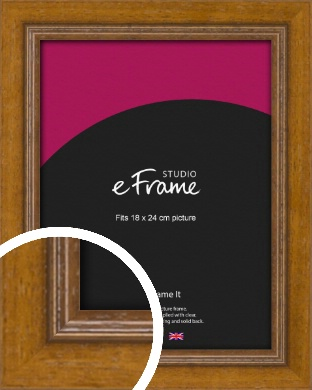 Tanned Traditional Brown Picture Frame, 18x24cm (VRMP-1333-18x24cm)