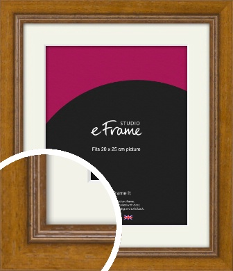 Tanned Traditional Brown Picture Frame & Mount, 20x25cm (8x10