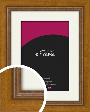 Tanned Traditional Brown Picture Frame & Mount (VRMP-1333-M)