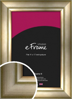 Flowing Satin Flecked Silver Picture Frame, 11x17