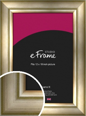 Flowing Satin Flecked Silver Picture Frame, 12x18