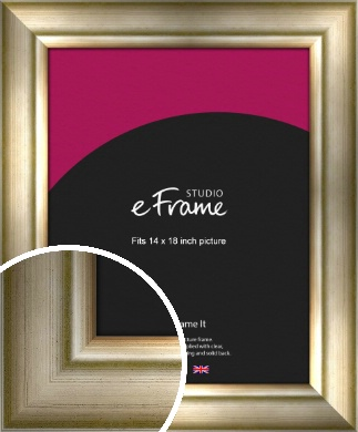 Flowing Satin Flecked Silver Picture Frame, 14x18