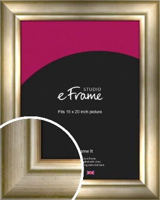 Flowing Satin Flecked Silver Picture Frame, 15x20