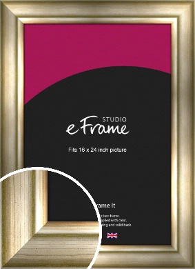 Flowing Satin Flecked Silver Picture Frame, 16x24