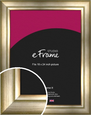 Flowing Satin Flecked Silver Picture Frame, 18x24