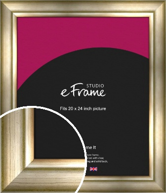 Flowing Satin Flecked Silver Picture Frame, 20x24
