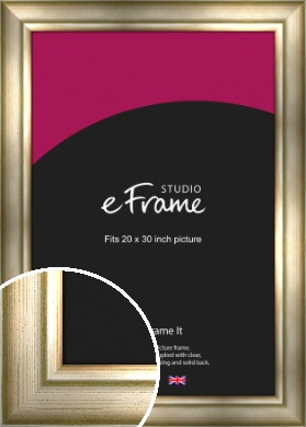 Flowing Satin Flecked Silver Picture Frame, 20x30