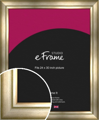 Flowing Satin Flecked Silver Picture Frame, 24x30