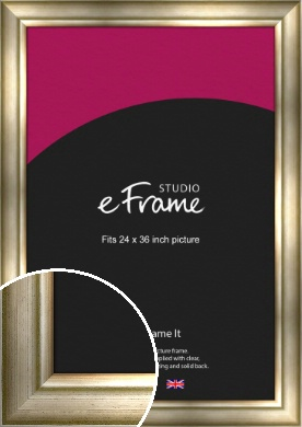 Flowing Satin Flecked Silver Picture Frame, 24x36
