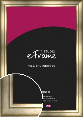 Flowing Satin Flecked Silver Picture Frame, 27x40