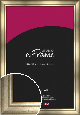 Flowing Satin Flecked Silver Picture Frame, 27x41