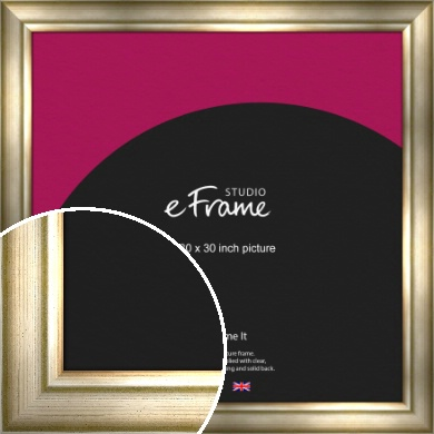 Flowing Satin Flecked Silver Picture Frame, 30x30