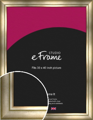 Flowing Satin Flecked Silver Picture Frame, 30x40