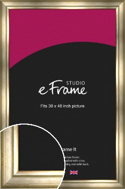 Flowing Satin Flecked Silver Picture Frame, 30x48