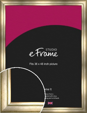 Flowing Satin Flecked Silver Picture Frame, 36x48