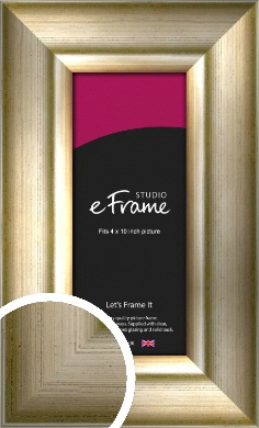 Flowing Satin Flecked Silver Picture Frame, 4x10