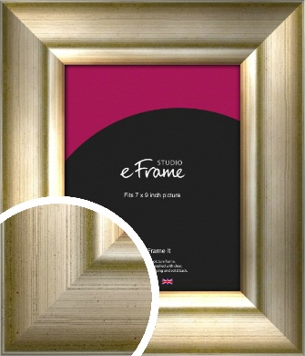Flowing Satin Flecked Silver Picture Frame, 7x9
